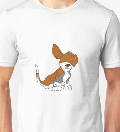 Cartoon Basset Hound Can't See  Unisex T-Shirt