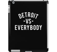 Detroit VS Everybody | White iPad Case/Skin