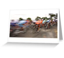 Past in a blur of colour Greeting Card