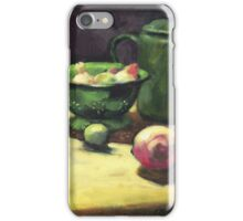 The Green Collander, oil painting on board. iPhone Case/Skin