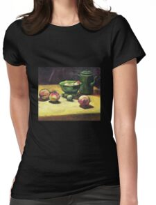 The Green Collander, oil painting on board. Womens Fitted T-Shirt