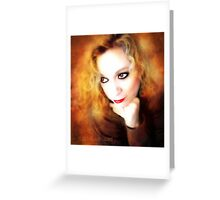 Just Thinking ( self portrait ) Greeting Card