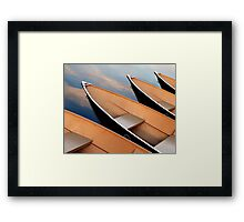 Rowboats in the Sky Framed Print