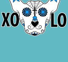 Xolo Sugar Skull by spazzynewton