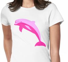 Pink Dolphin Womens Fitted T-Shirt
