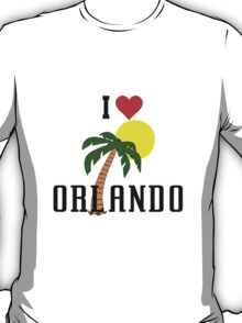 Florida i love orlando palm tree and sun geek funny nerd T-Shirt