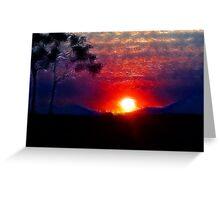 Bushland sunset Greeting Card