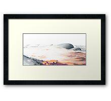 moon dune Framed Print