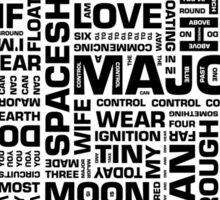 Writer's Block • Space Oddity Sticker