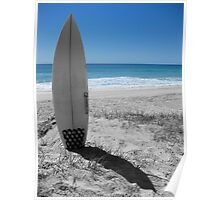 surfboard in sand Poster