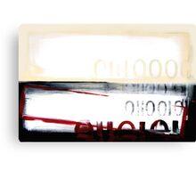 peek binary code painting Canvas Print