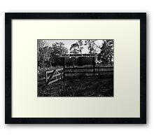 Keck Memorial Cemetery Framed Print