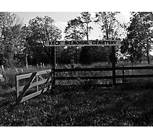 Keck Memorial Cemetery Photographic Print