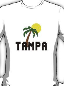 Florida tampa palm tree and sun geek funny nerd T-Shirt