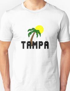 Florida tampa palm tree and sun geek funny nerd T-Shirt