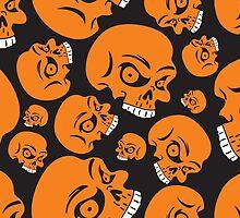 The Orange Skull - Halloween Skulls by verypeculiar