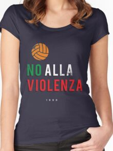 NO ALLA VIOLENZA Women's Fitted Scoop T-Shirt