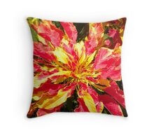 Flame Burst Throw Pillow