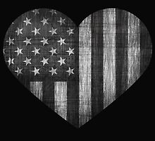 Black/White American Heart by Elizabeth Escalera