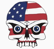 Old glory skull  by saltypro