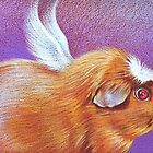 Piggie angel by Elena Kolotusha