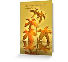 Liquidamber Greeting Card
