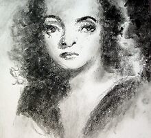 Bette Davis #3 - ACEO by Bill Meeker