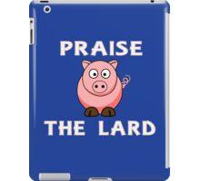 Funny pork bacon praise the lard pig geek funny nerd iPad Case/Skin