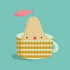 pear in a cup by silviarossana