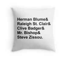 Bill Murray Wes Anderson Characters Throw Pillow