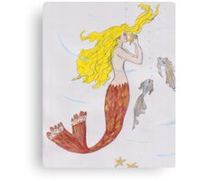 Mermaid with the blond hair Canvas Print