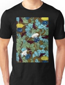 Colorful Vintage Dandelions Abstract Unisex T-Shirt