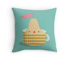 pear in a cup Throw Pillow
