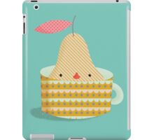 pear in a cup iPad Case/Skin