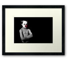;+) Framed Print