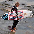 Cowrie Hole Surfer - Newcastle NSW by Bev Woodman