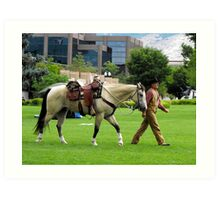 Introducing Sundance the Horse and His Owner Ron Art Print