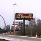 Billboards & Arch in St. Louis by Susan Russell