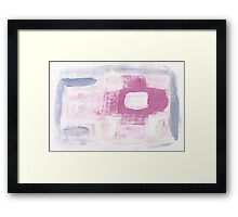 Paintbrush Practicing makes Pretty Pattern Framed Print
