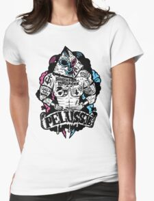 PELUSSJE as Strong Macho with Pyramid Head Womens Fitted T-Shirt