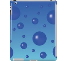 Blue background with dark blue bubbles. iPad Case/Skin