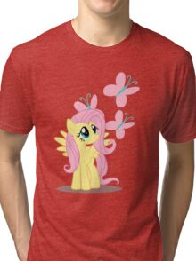 Fluttershy with cutie mark Tri-blend T-Shirt