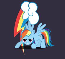 Rainbow Dash with cutie mark Unisex T-Shirt