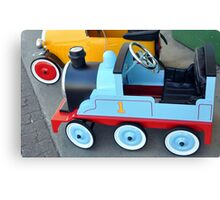 Coloured Wheels Canvas Print