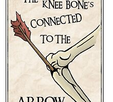 Skyrim Knee Bone's connected to the arrow by Kevin-Mckenna