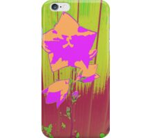 Bellflower in Pink and Orange iPhone Case/Skin