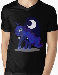Princess Luna with cutie mark Mens V-Neck T-Shirt