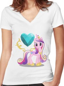 Princess Cadence with cutie mark Women's Fitted V-Neck T-Shirt