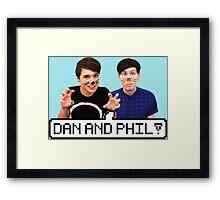 Dan and Phil! Framed Print