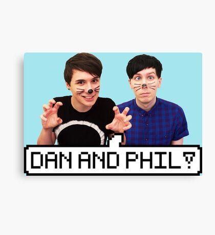 Dan and Phil! Canvas Print